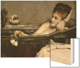 The Bath, circa 1867 Wood Print by Alfred Georges Stevens