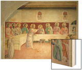 The Last Supper, 1442 Wood Print by  Fra Angelico