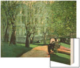 Summer Day, Boston Public Garden, c.1923 Wood Print by George Luks