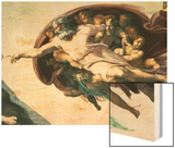 Sistine Chapel Ceiling: Creation of Adam, 1510 Wood Print by  Michelangelo Buonarroti
