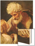 Saint Matthew Wood Print by Guido Reni