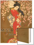 1920s USA Miss Tokio Magazine Advertisement Wood Print