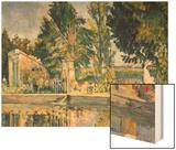 Jas De Bouffan, the Pool, C.1876 Wood Sign by Cézanne Paul