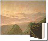 Morning in the Mountains Wood Print by Caspar David Friedrich