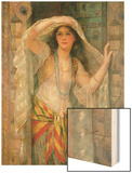 Sofie - One of Three Females of Baghdad, 1900 Wood Print by William Clarke Wontner