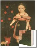 Little Girl in Lavender Wood Print by John Bradley