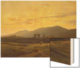 Ruins in the Riesengebirge, 1830-34 Prints by Caspar David Friedrich