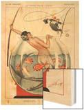 1920s France La Vie Parisienne Magazine Plate Wood Print