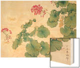 Geranium Wood Print by Hsi-Tsun Chang