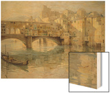 Ponte Vecchio, Florence, c.1910 Wood Print by Charles Oppenheimer