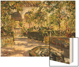 Alcazar Gardens, Seville Wood Print by Colin Campbell Cooper