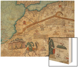 Detail from the Catalan Atlas, 1375 Wood Print by Abraham Cresques