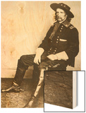 George Armstrong Custer Wood Print by Mathew Brady