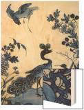 Tulipière (Tulpenvaas) Fan Decorated with Far East Wood Print