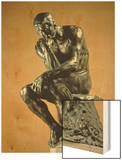 The Thinker, 1881 Wood Print by Auguste Rodin