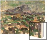 Montagne Sainte-Victoire, 1904-06 Wood Sign by Cézanne Paul