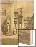 Town Hall, Halberstadt Wood Print by Carl Friedrich Heinrich Werner