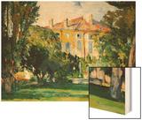 The House at Jas De Bouffan, 1882-85 Wood Sign by Cézanne Paul