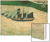 Ship and Lighthouse, c.1925 Wood Print by Alfred Wallis