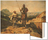 Don Quixote and Sancho Wood Print by Alexandre Gabriel Decamps