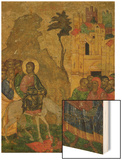 The Entry into Jerusalem, Russian Icon from the Iconostasis in the Cathedral of St. Sophia Wood Print
