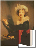 Self Portrait Wood Print by Elisabeth Louise Vigee-LeBrun