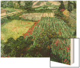 Field of Poppies, Saint-Remy, c.1889 Wood Print by Vincent van Gogh