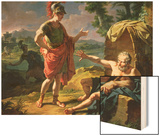Alexander and Diogenes, 1818 Wood Print by Nicolas Andre Monsiau