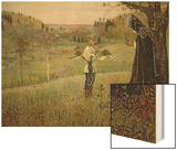 The Vision of the Young Bartholomew, 1889-90 Wood Print by Mikhail Vasilievich Nesterov