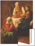 Christ in the Home of Martha and Mary, about 1654 Wood Print by Jan Vermeer