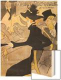 """Poster Advertising """"Le Divan Japonais"""", 1892 Wood Print by Henri de Toulouse-Lautrec"""