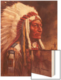 Indian Chief Wood Print by Frank Humphris
