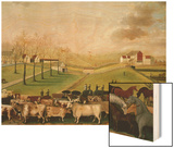 The Cornell Farm, 1848 Wood Print by Edward Hicks