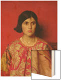 "The Exile: ""Heavy Is the Price I Paid for Love"", 1930 Wood Print by Thomas Cooper Gotch"