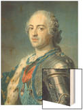 Portrait of King Louis XV 1748 Wood Print by Maurice Quentin de La Tour