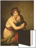 Madame Vigee-Lebrun and Her Daughter, Jeanne-Lucie-Louise (1780-1819) 1789 Wood Print by Elisabeth Louise Vigee-LeBrun