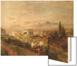 View of Florence, 1898 Wood Print by Oswald Achenbach