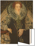 Queen Elizabeth I, circa 1585-90 Wood Print by John Bettes the Younger
