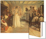 The Wedding Morning, 1892 Wood Print by John Henry Frederick Bacon