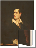 Portrait of Lord Byron Wood Print by Thomas Phillips