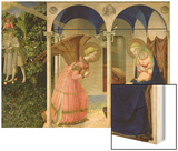 The Annunciation, circa 1430-32 Wood Print by  Fra Angelico