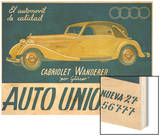 Auto Union Audi, Magazine Advertisement, USA, 1930 Wood Print