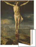 Christ on the Cross, Before 1650 Wood Print by Philippe De Champaigne