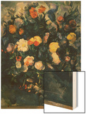 Vase of Flowers, 19th Wood Sign by Cézanne Paul