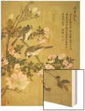 Crabapple, Magnolia and Baitou Birds Wood Print by Ma Yuanyu