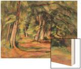 Sous-Bois 1890-94 Wood Sign by Cézanne Paul