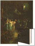 Midsummer Night's Dream Wood Print by Gustave Dore