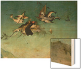 Temptation of St.Anthony, Detail of Left Hand Panel Wood Print by Hieronymus Bosch