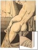 Ganymede before Zeus, 1923 Wood Print by Sidney Hunt