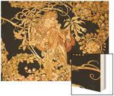 Femme a la marguerite Wood Print by Alphonse Mucha